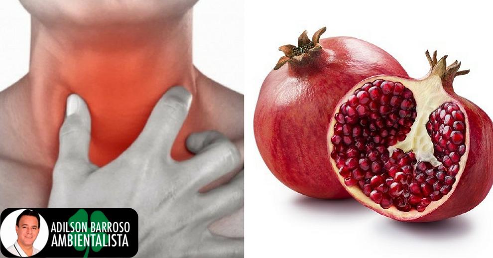 Veja uma receita com romã e uva verde para melhorar dores de garganta.:(foto divulgação)