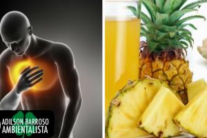 Veja um remédio natural com abacaxi e gengibre para curar a bronquite.:(foto divulgação)