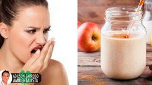 Grande remédio natural de iogurte para remover o mau hálito