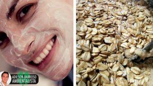 Máscaras faciais com farinha de aveia